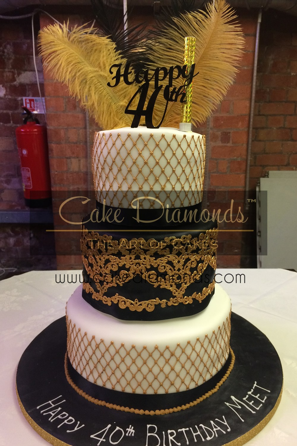 eggless wedding cakes leicester gatsby black amp gold themed cake cake diamonds 13935